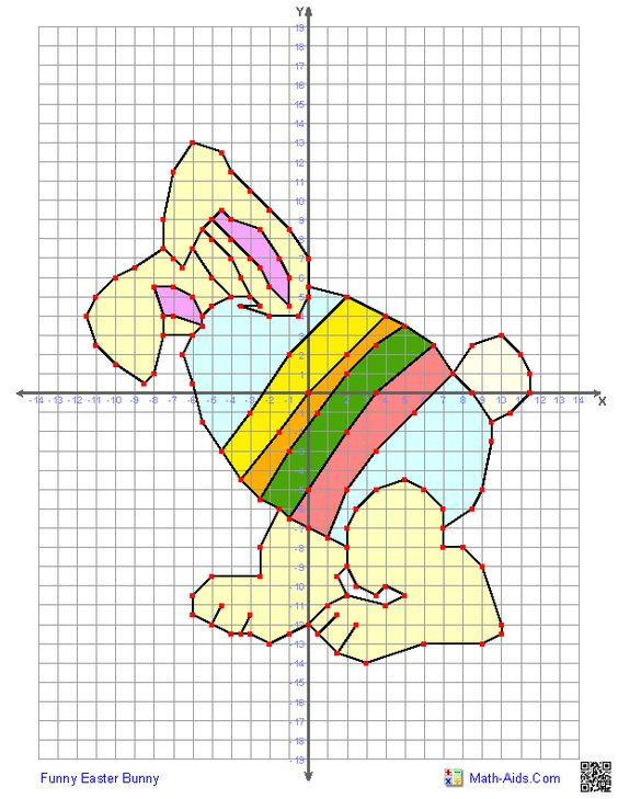 Four Quadrant Graphing Worksheets for Easter : Math-Aids ...