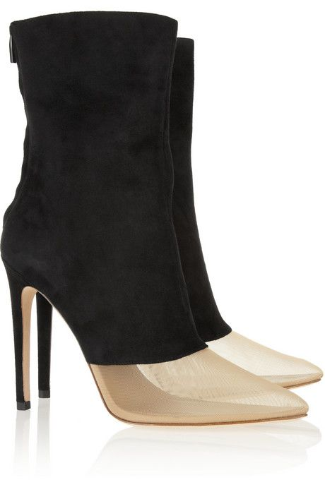 Alexander Wang Cameron suede and mesh boots