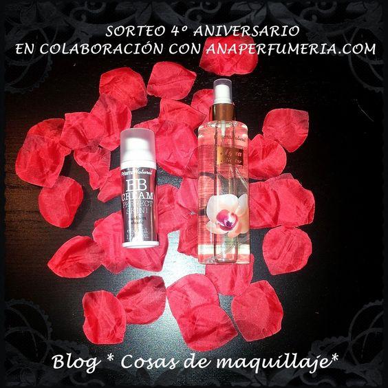 Cosas de maquillaje: Sorteo 4º Aniversario by Perfumería Ana