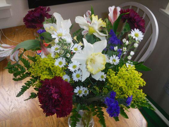 My first Arrangement.. Garden Variety   April 4th, 2012