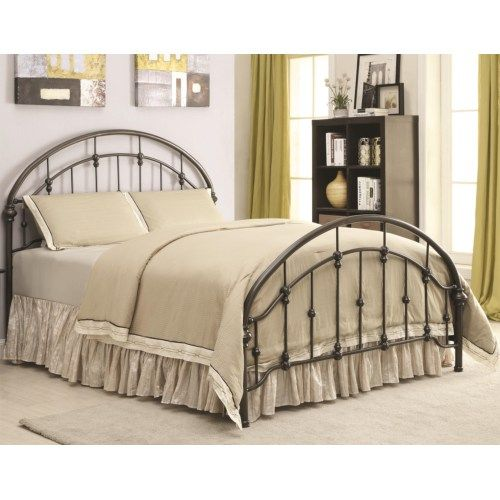 Coaster Iron Beds and Headboards Metal Curved Twin Bed - Coaster Fine Furniture