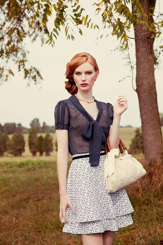 Bowtie blouse by sandrachagen on Etsy, $75.00