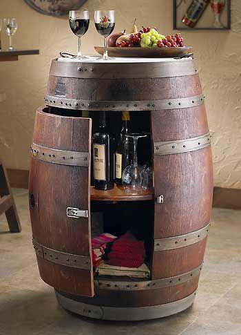 Wine Barrel Cabinet : Wild Wings