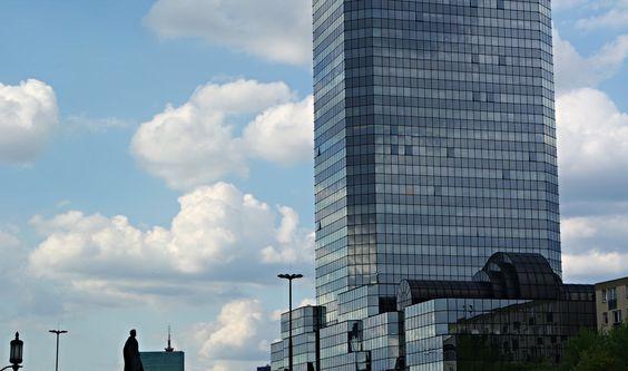 https://flic.kr/p/GGH55K | SAM_3323 | Modern building and Dynamic clouds in Warsaw, Poland