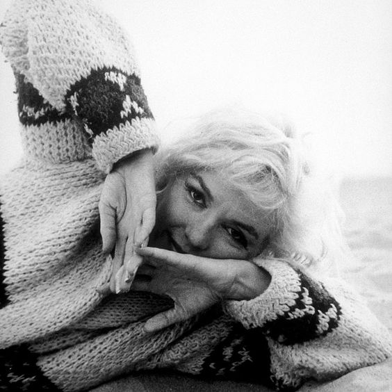 Marilyn Monroephotographed by George Barris on Santa Monica Beach in 1962