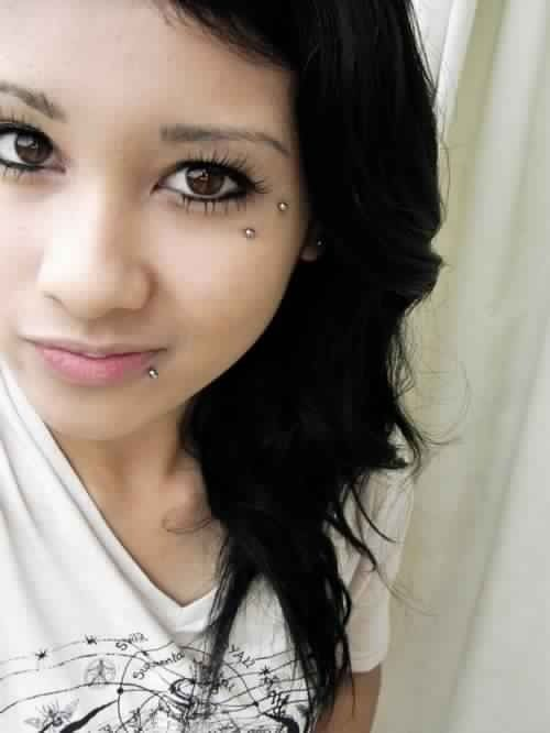 Anti-eyebrow -- one of my favorite facial piercings, too bad I don't think I could pull it off