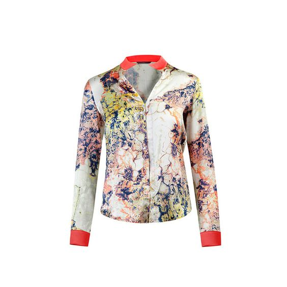£102 Marble Printed Shirt | WtR | Wolf & Badger https://www.wolfandbadger.com/uk/marble-printed-shirt/