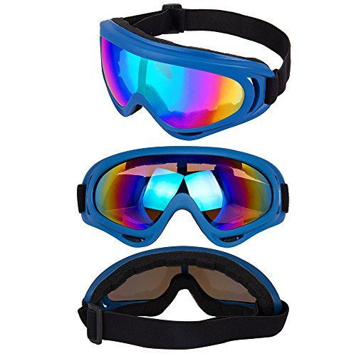 Snowboard Goggles with UV 400 Protection Anti-Glare Lenses Goggles for Motorcycle Cycling Outdoor Sports Eyewear for Kids Windproof Boys /& Girls Youth Dustproof Men /& Women DODOING Ski Goggles
