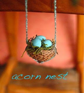 acorn nest   cute necklace for  Liv
