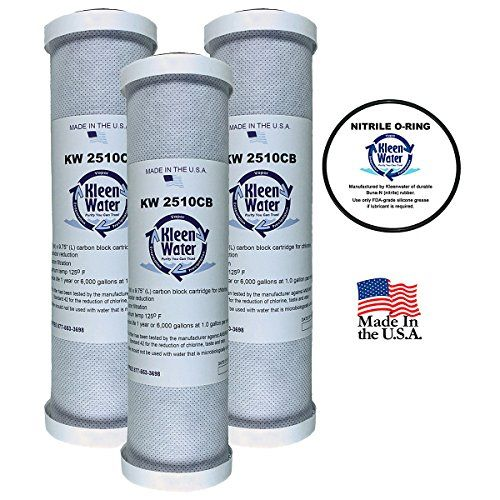 Ge Gxwh04f Gxwh20f Gxwh20s Gxrm10 Compatible Water Filter Kleenwater Kw2510cb Carbon Block Replacement Cartridge Set Of Replacement Filter O Ring Filters