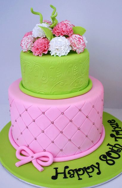 pink two tier cake simple tier cake flower cakes cute cakes cake ideas ...