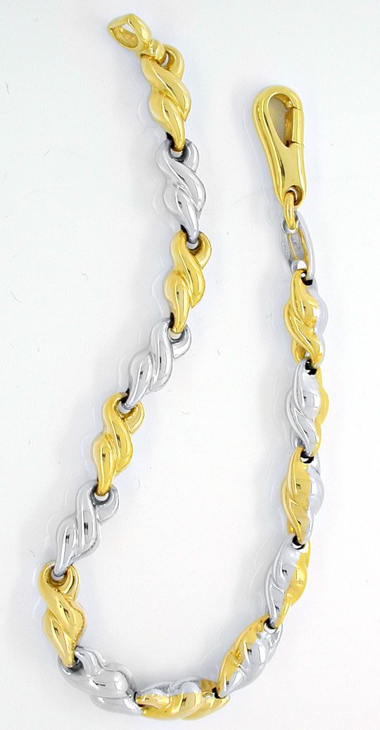 Foto 2, Designer-Armband, Gelbgold Weissgold 18K/750, Shop Neu!, K2952