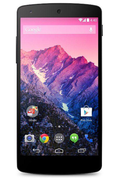 "Google Nexus 5 - Smartphone libre (pantalla 4.95"", cámara 8 Mp, 16 GB, Quad-Core 2.3 GHz, 2 GB RAM, 4G/LTE, S.O. Android 4.4), negro: #Smartphone"