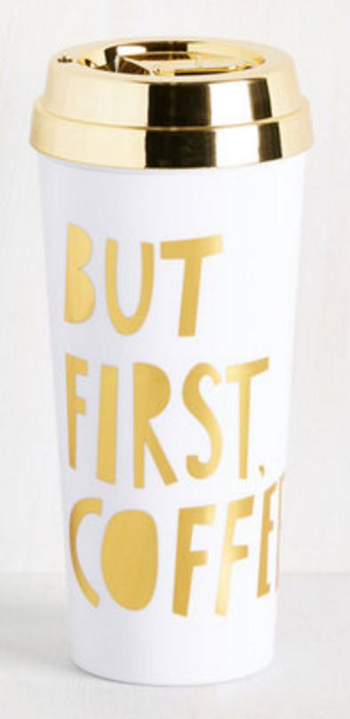 but coffee first' tumbler