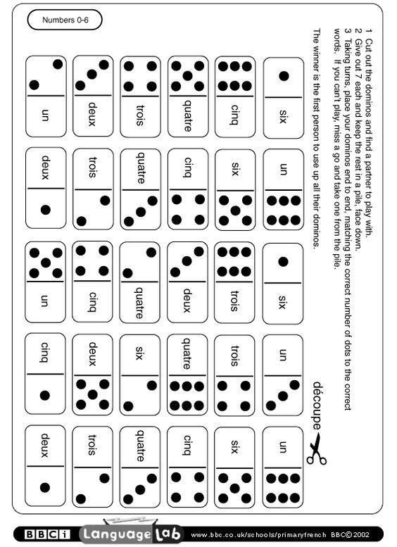 t l charger un jeu de domino pour travailler les nombres teaching french pinterest. Black Bedroom Furniture Sets. Home Design Ideas