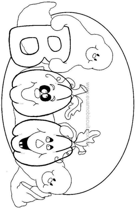 coloring pages pumpkins and ghosts - photo#13