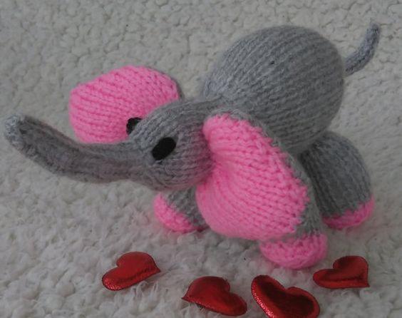Hand Knitted Baby Elephant by DorothyLollipopKnits on Etsy