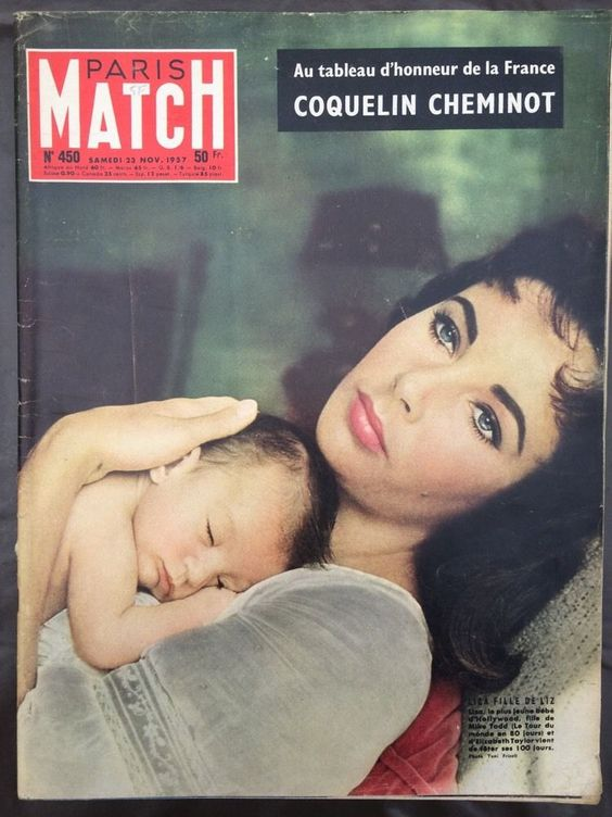 Paris Match 23 11 57 Elizabeth Taylor Ingrid Bergman Towsend Coquelin Bourguiba…