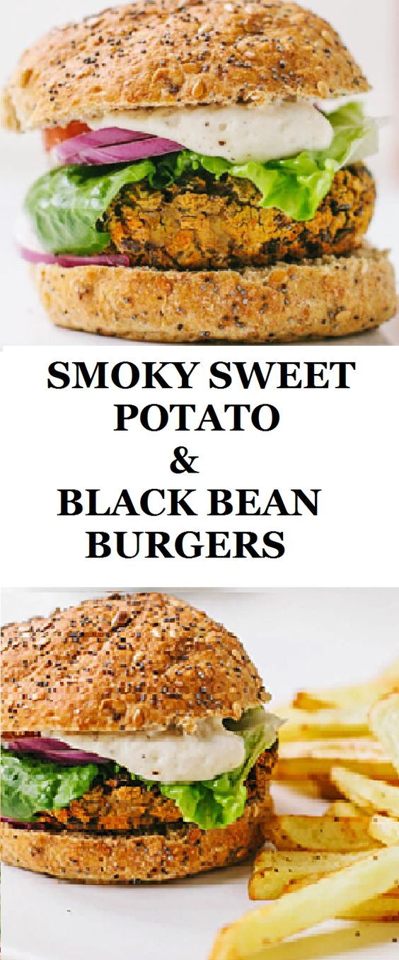 Smoly sweet potato and black bean burger - gluten free, vegan and tasty