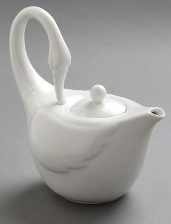 Elegant swan teapot ... made from pure white porcelain, this teapot would look simply splendid amongst a weekend brunch spread or perfectly cap off a tea party when surrounded by petits fours and macarons. Despite the delicate figure it cuts, it's actually quite durable – this beauty is actually dishwasher friendly as an extra bonus.