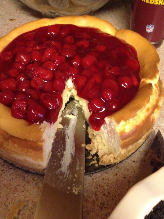 Cherry Cheesecake with sugar cookie crust