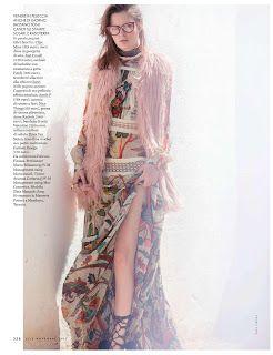 "Duchess Dior: ""Bohemian Rhapsody"" Zlata Mangafic for ELLE Italy November 2015"
