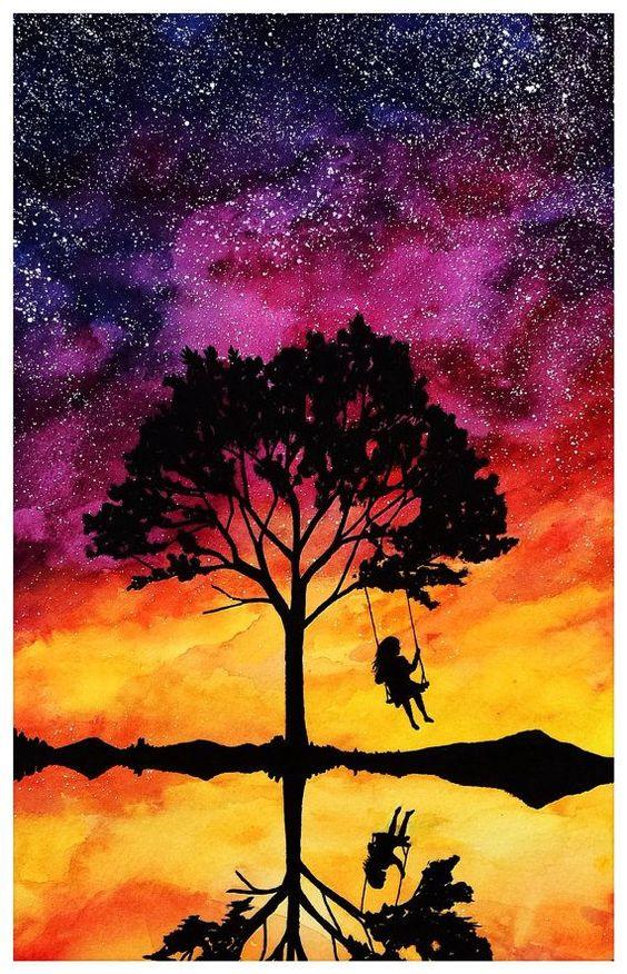 Sonnenuntergang Träume drucken -   #