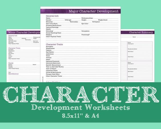 Character Worksheets - Brushstrokes Violet - Novel Writing ...