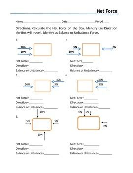 Printables Net Forces Worksheet net force and diagrams activities the ojays net