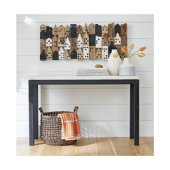 Rectangular Wall Art village rectangular wall art - crate and barrel | pinterest