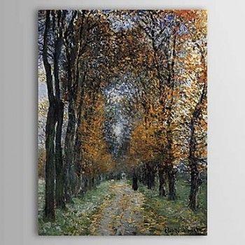 Hand-painted Oil Painting The Avenue Landscape Portrait Claude Monet - OutletsArt.com