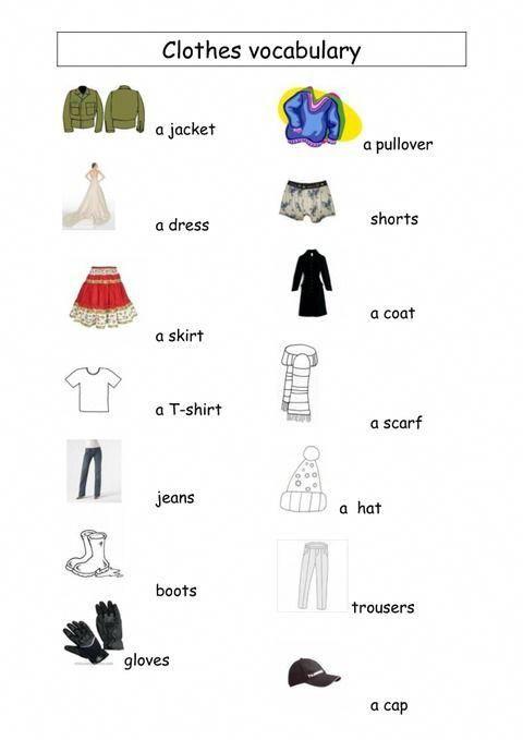 [DIAGRAM_38DE]  Très Clothes vocabulary - Vocabulaire vêtements - Ce2 - Cm1 - Cm2 VM69  #vocabulaireanglais | Apprendre l'anglais, Anglais cm1, Vetement en anglais | Ce2 Cm1 |  | Pinterest