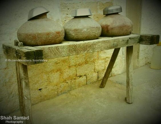 Gharay (water containers). Water remain cool in these containers.
