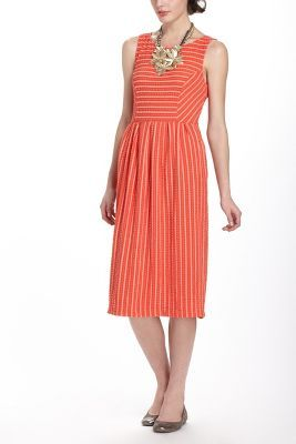 Anthropologie - Retro Ribbon Midi Dress