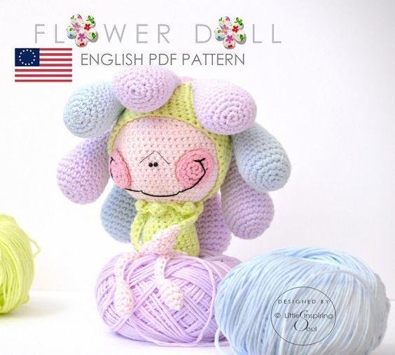 flower doll crochet pattern etsy