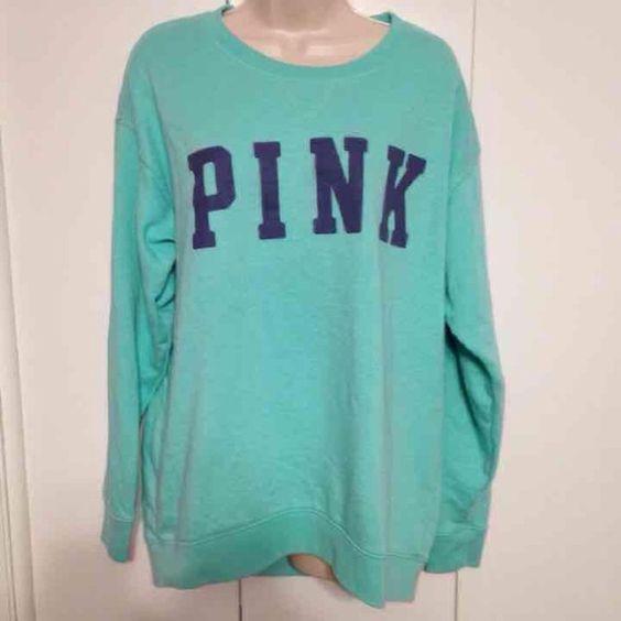 Aqua victoria's secret crew No flaws. Only $20 on Ⓜ️ PINK Victoria's Secret Tops Sweatshirts & Hoodies