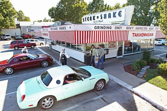 Be sure to visit the last Steak and Shake with carhop service along Historic Route 66 - only in Springfield, Missouri!