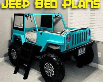 Construction Truck Bed Plans Pdf Format Twin Size Diy Etsy In