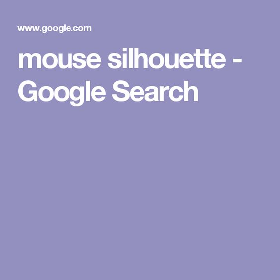 mouse silhouette - Google Search