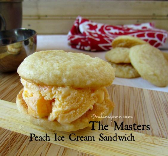 Georgia Peach Ice Cream Sandwich from The Masters - Call Me PMc