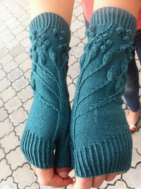Fingerless Gloves Knitting Pattern Ravelry : Under the Party Tree pattern by Claire Ellen Awesome, Ravelry and Fingerles...
