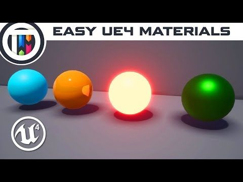 Unreal Engine 4 Tutorial - How to Create Materials in UE4