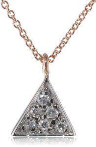 "Kismet by Milka Triangle Pave Necklace, 16.9"""