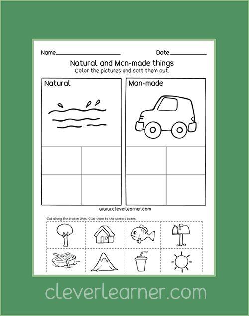 Free Preschool Printables On Natural Resources Kindergarten Preschool Ear Kindergarten Social Studies Social Studies Worksheets Natural Resources Activities