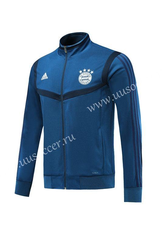 2019 2020 Bayern München Royal Blue Training Soccer Jacket