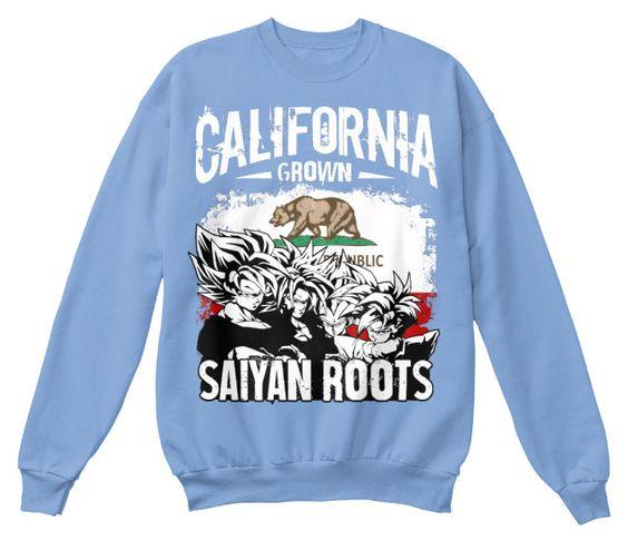 Super Saiyan Sweat Shirt - CALIFORNIA - TS00132SW