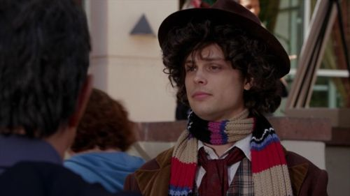 Dr. Spencer Reid dressed as The Doctor. YES!