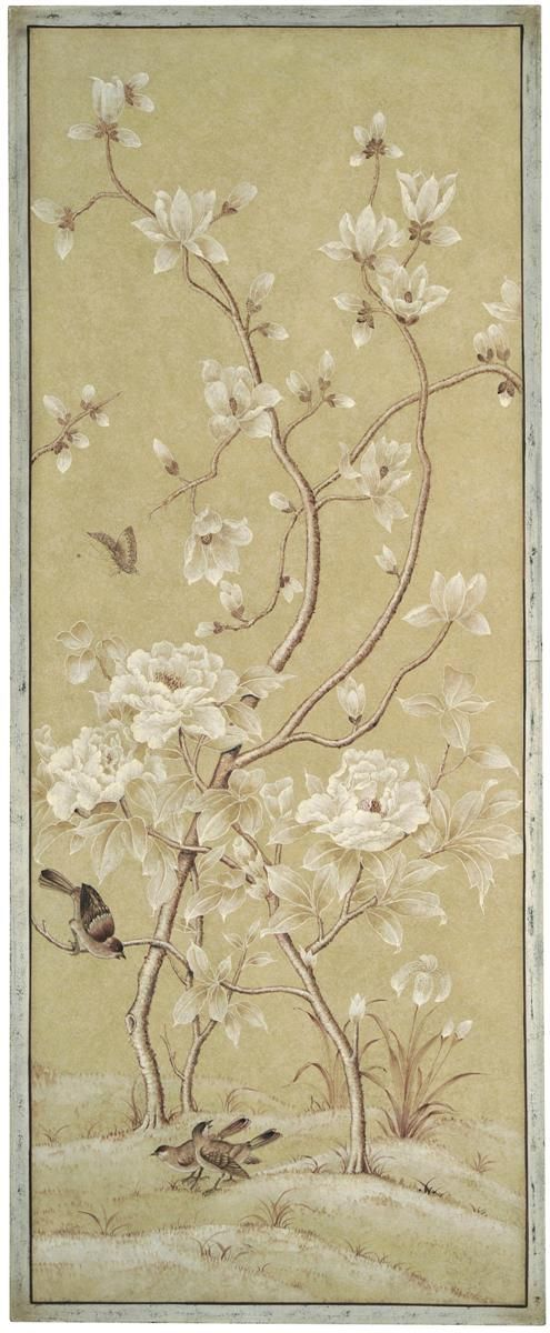 Bradburn Gallery: Right Beige Bird Panel: