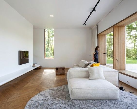 Minimalistic house surrounded by nature  Sofie Ooms  livingroom idea ...