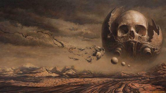 Dark Skull  Wallpaper